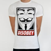 Image of White Disobey Project V for Vendetta Tee