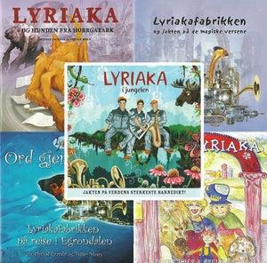 6 Lyriaka-CDer + bok