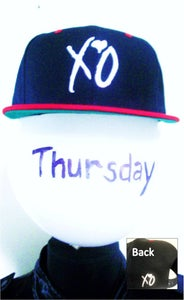 Image of XO Snapback Alternative Color (Navy/Red)