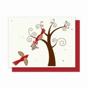 Image of Grow-A-Note® Red Birds Card