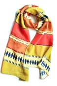Image of Sarape Print Scarf in Melon