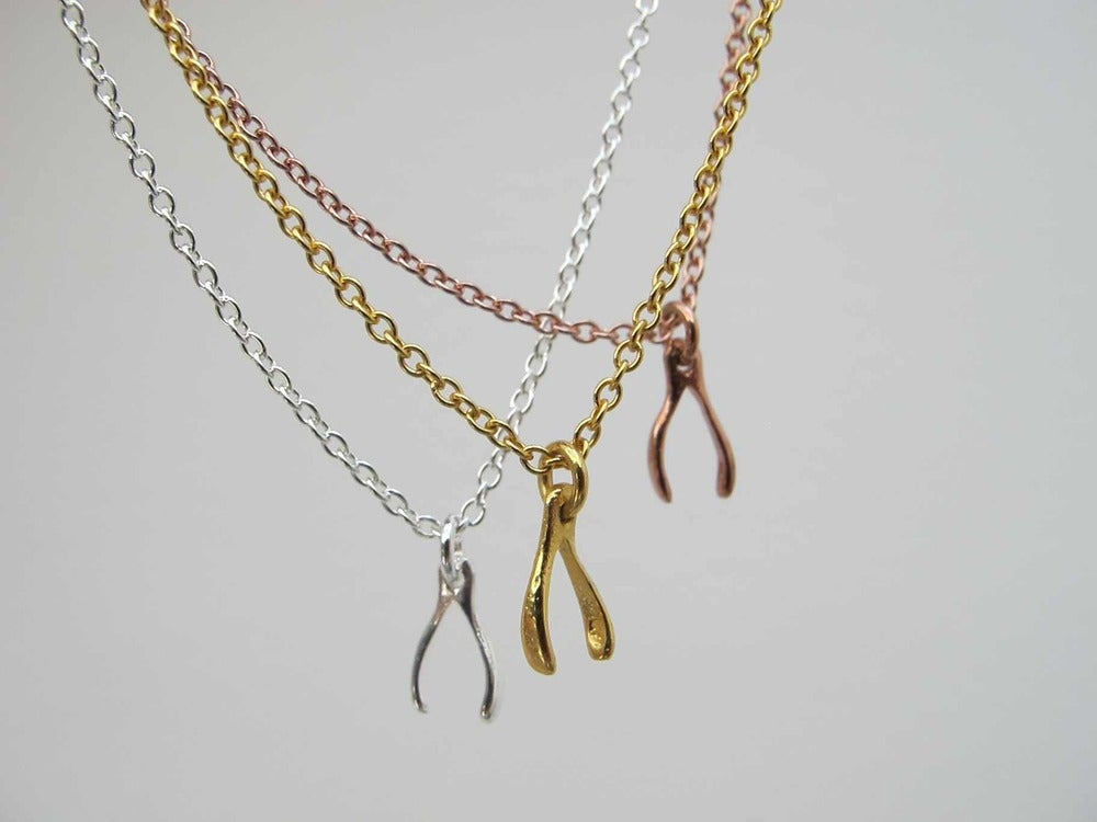 Image of MINI AVA WISHBONE NECKLACE