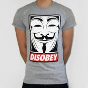 Image of Grey Disobey Project V for Vendetta Tee