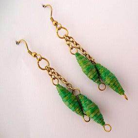 Image of Chrysalis double drop earrings