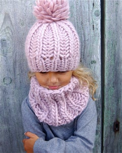 "Image of Kit tricot bonnet ""Sacha"" & col ""Joy"""