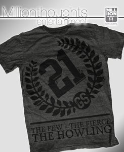 Image of The Howling shirt - dark heather/black