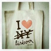 Image of Love Lisboa canvas bag