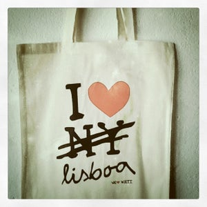 Image of Love Lisboa canvas bag