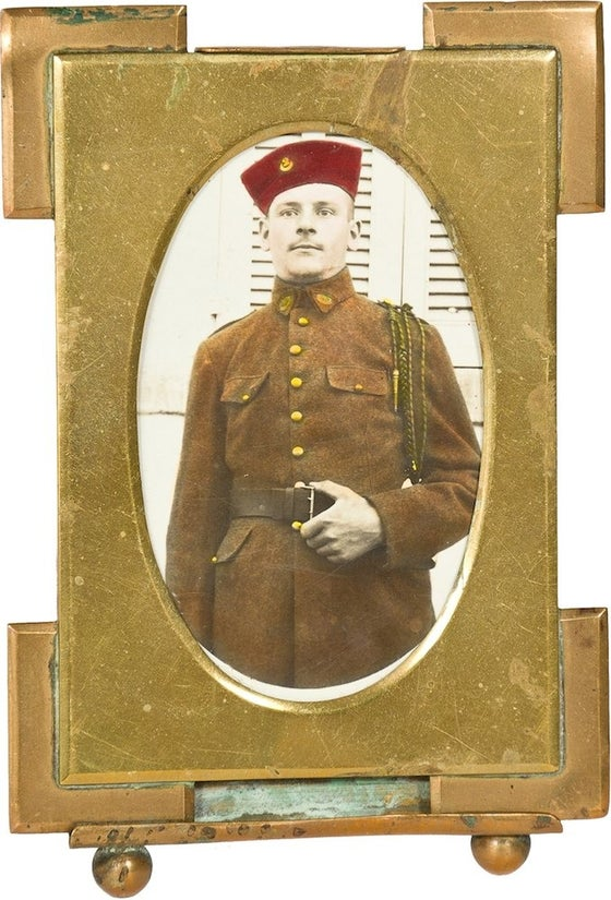 Image of 19th-C. French Soldier Framed Photograph