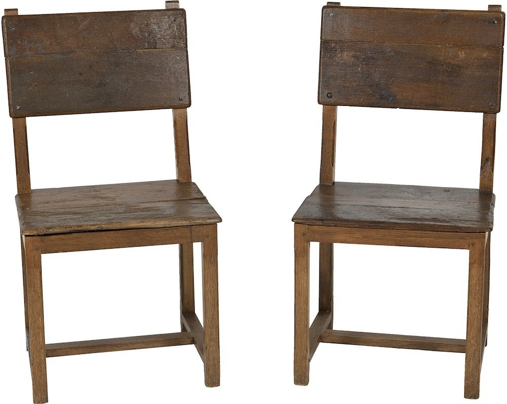 Image of 18th-C. Hallway Chairs, Pair