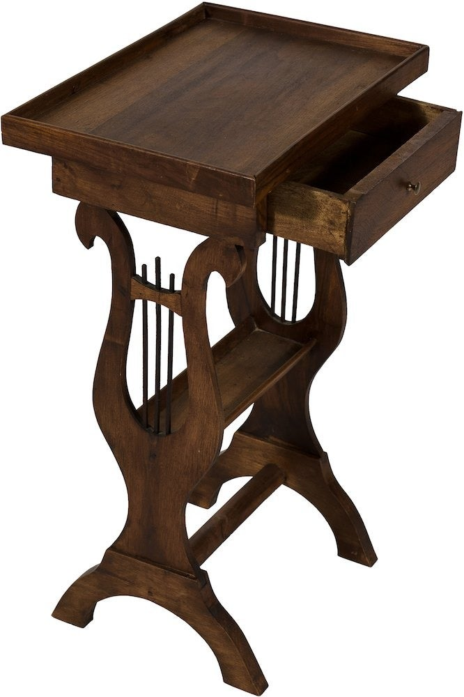 Image of 19th-C. Wood Bedside Table