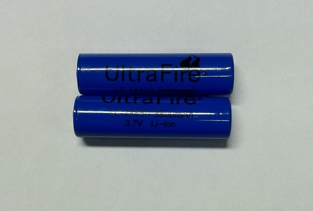 Image of BATTERY -LITHIUM 18650 3800mAh RECHARGEABLE 3.75v Li-ion (2ea.)