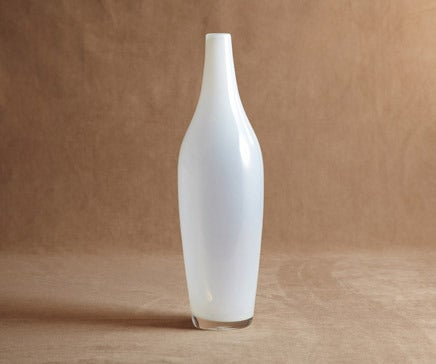 Image of White Translucent Glass Vase BC-002
