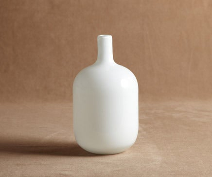 Image of Handblown White Milk Glass Vase BC-003