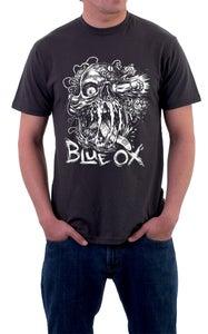 Image of Blue Ox Brain Fuck Skull T Shirt