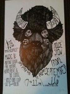 Image of Buffalo Head Bailey Layne Flyer Poster