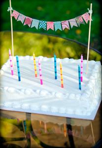 Image of Hand-made Birthday Cake Mini-Bunting Garland
