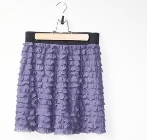Image of Purple Ruffle Skirt
