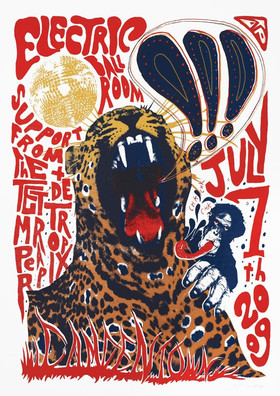 Image of !!! (chk chk chk) - London 2009 - Silkscreen Poster