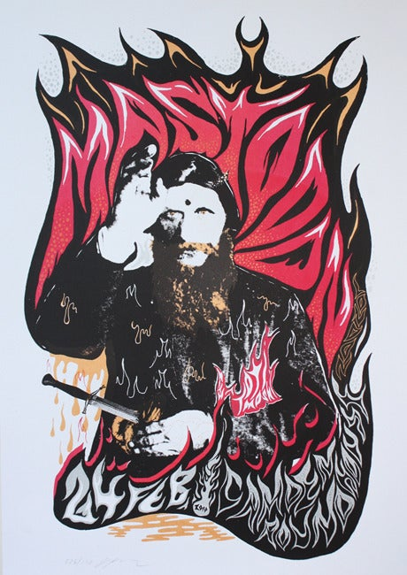 Image of Mastodon - London 2010 - Silkscreen Poster