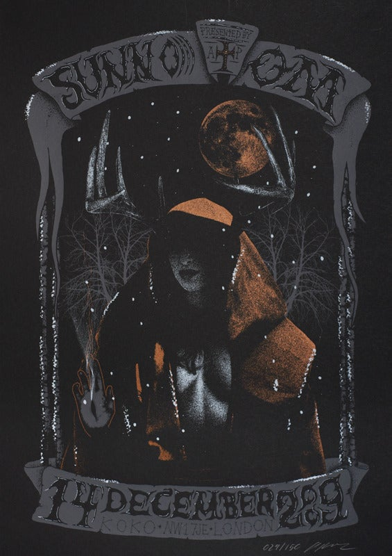 Image of Sunn O))) & Om - London 2009 - Silkscreen Poster