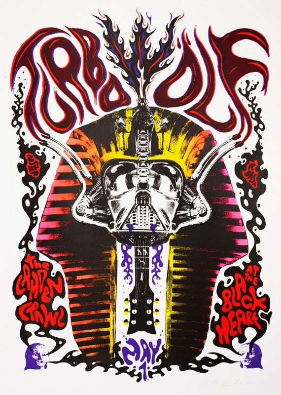Image of ONLY 3 LEFT!!  Turbowolf - Camden Crawl 2010 - Silkscreen Poster