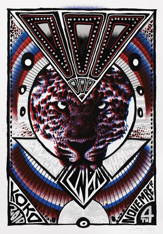 Image of !!! (chk chk chk) - London 2010 - Silkscreen Poster