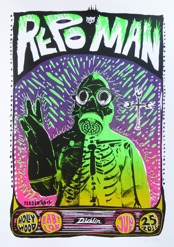 Image of Repo Man -  ONLY 4 LEFT - Hollywood Babylon Screening 2011 - Silkscreen Poster