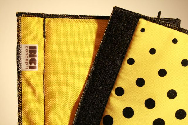 Image of Bici: Frame pad - Yellow/Yellow Check-a-dots©