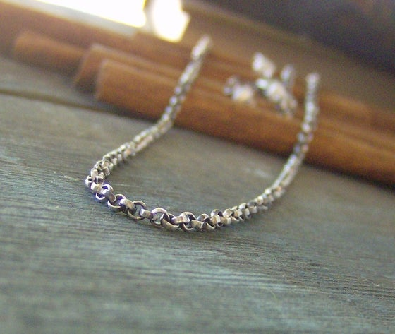 Image of Sterling silver Oxidized rolo chain choose your length