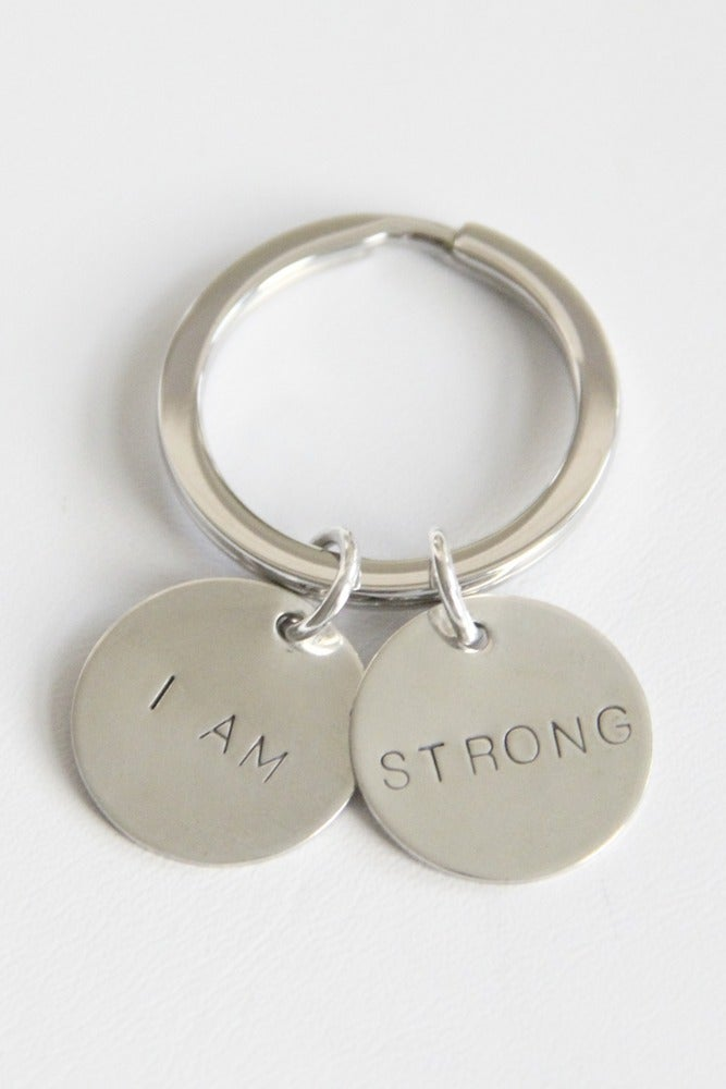 Image of I AM STRONG KEY CHAIN