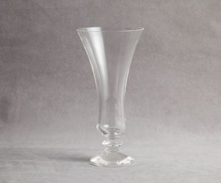 Image of Faceted Base Cut Crystal Footed Tulip Vase BC-226