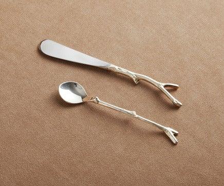 Image of Chrome Twig Chutney Spoon & Knife BC-199
