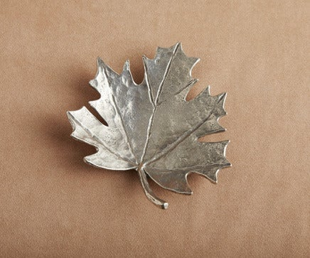 Image of Metal Leaf Dish BC-190