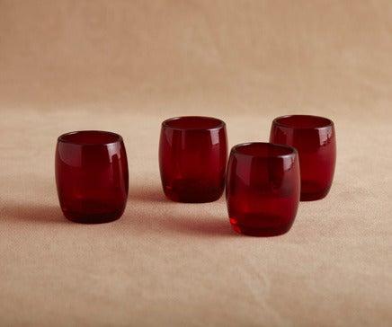 Image of Set of 4 Vintage Ruby Glasses BC-187