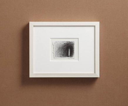 Image of Abstract Pen and Ink Drawing with White Painted Frame 9 BC-177