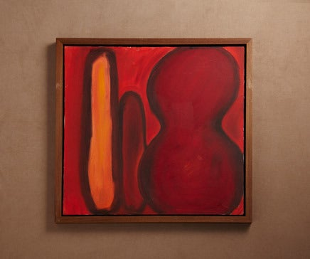 Image of Abstract Painting Oil on Canvas with Hand Oiled Walnut Frame 3 BC-168