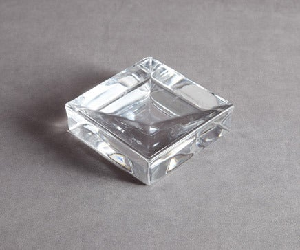 Image of Vintage Glass Inverted Pyramid Dish BC-116
