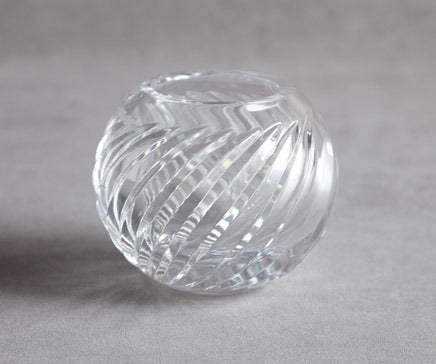 Image of Vintage Italian Angle Cut Crystal Bowl BC-104
