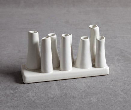 Image of White Ceramic Multi Bud Vase BC-092