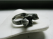 Image of Crystal cluster sterling silver ring
