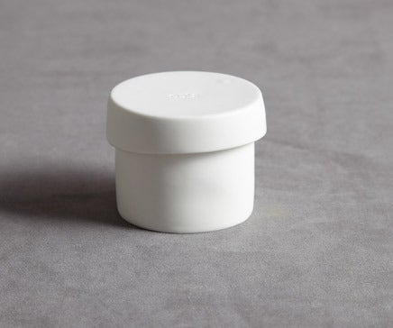 Image of Matte Finish White Porcelain Round Box BC-091