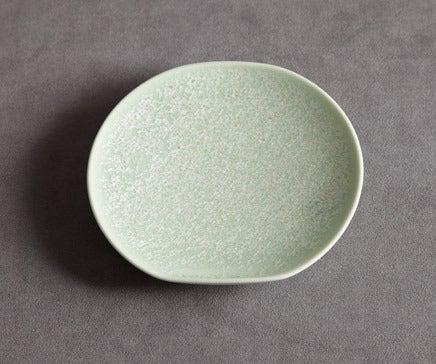 Image of Decorative Green and Yellow Flecked Porcelain Plate BC-042