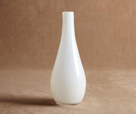 Image of White Milk Glass Tapered Vase BC-001