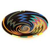 Image of Shallow Bowl in Black Rainbow