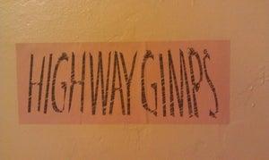 "Image of ""Giant"" Highway Gimps Sticker"