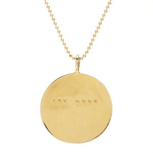Image of 14kt Gold Moon Necklace