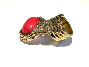 Image of Maydoll Fiery Red Knuckle Ring