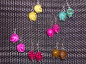 Image of Candy Colored Skull Earrings