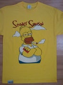 Image of DTC Stoner Simpson T-Shirt in Yellow